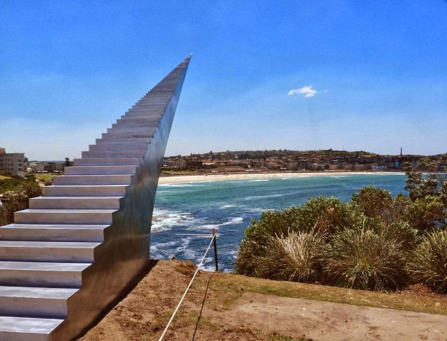 Sculpture by the Sea, diminish and ascend by David McCracken...bondi, sydne, silver stairway to heaven  xqBf7kW